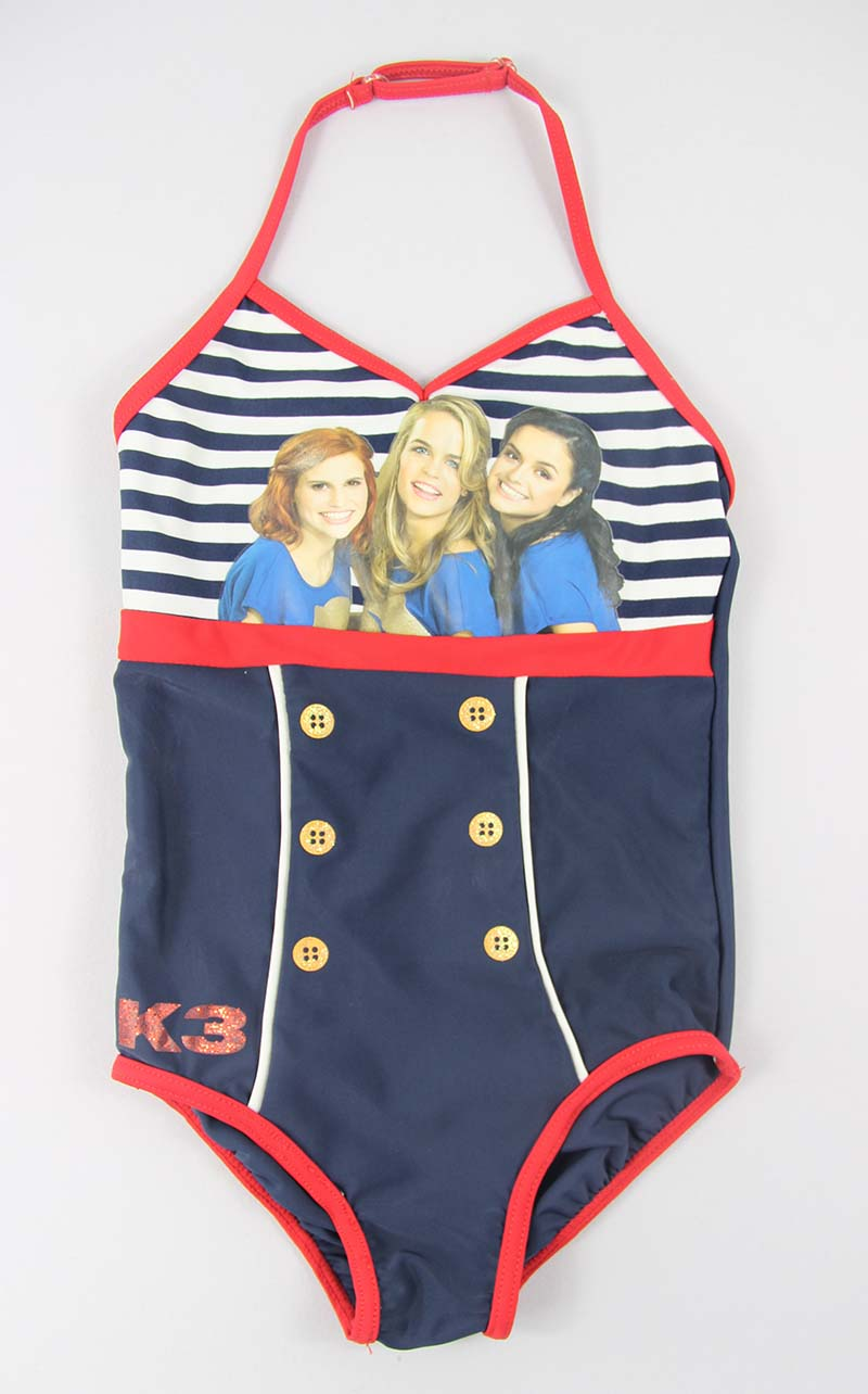 Navy stripes girls bathing suits