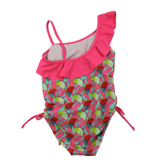 One shoulder little girls swimsuits