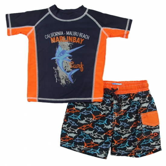 Boys rash guard with bottoms