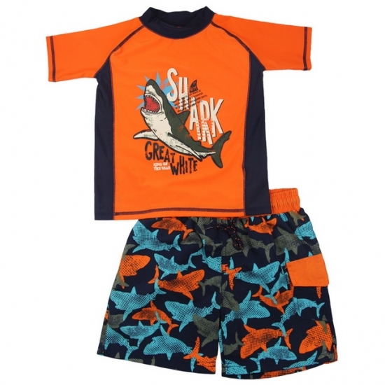 Kids rash guard & boardshorts