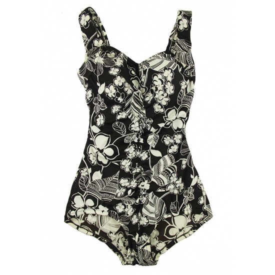 Ladies floral one piece bathing suits