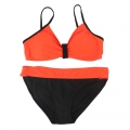 Classic red and black bikinis for women