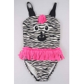 Zebra girls one piece bathing suits