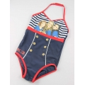 Halter girl's one piece swimwear
