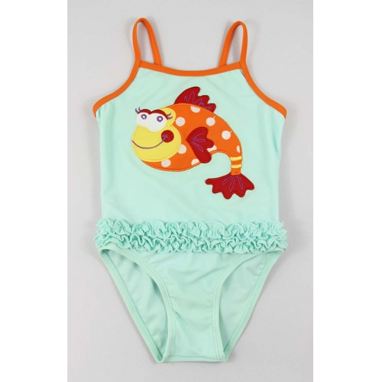 Fish dress bathing suits for kid girls